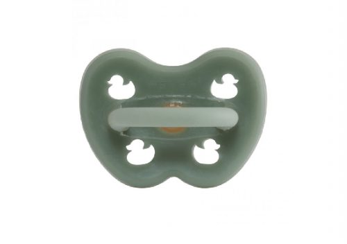 Ortodontska duda iz kavčuka RAČKA (3-36m) – Moss Green