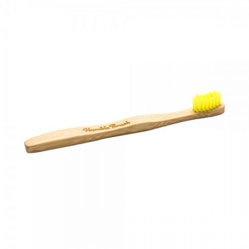 Otroška zobna ščetka iz bambusa – rumena