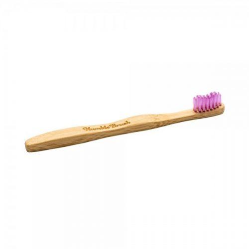 Otroška zobna ščetka iz bambusa – roza