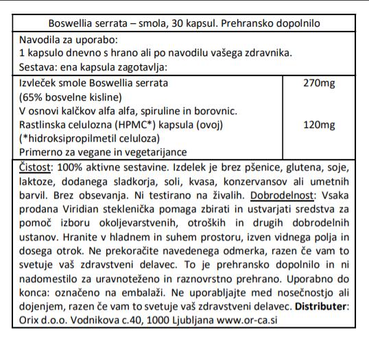 Bosvelija (30 kapsul)